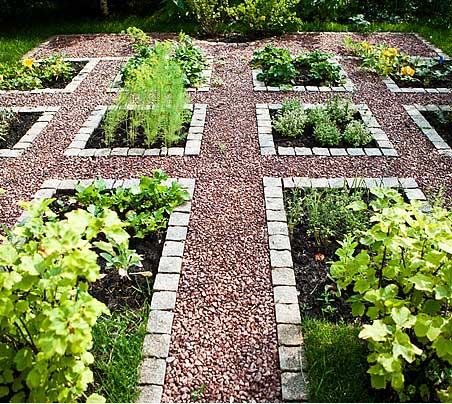 Foto einer Gartenanlage